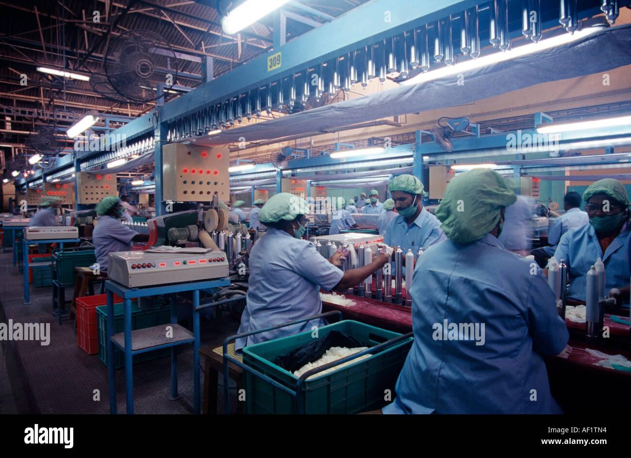 CONDOM MANUFACTURING PLANT IN HINDUSTAN LATEX TRIVANDRUM - Stock Image