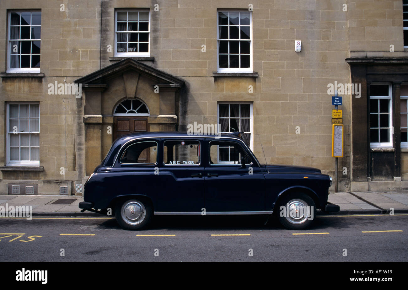 Black Cab Taxi - Stock Image
