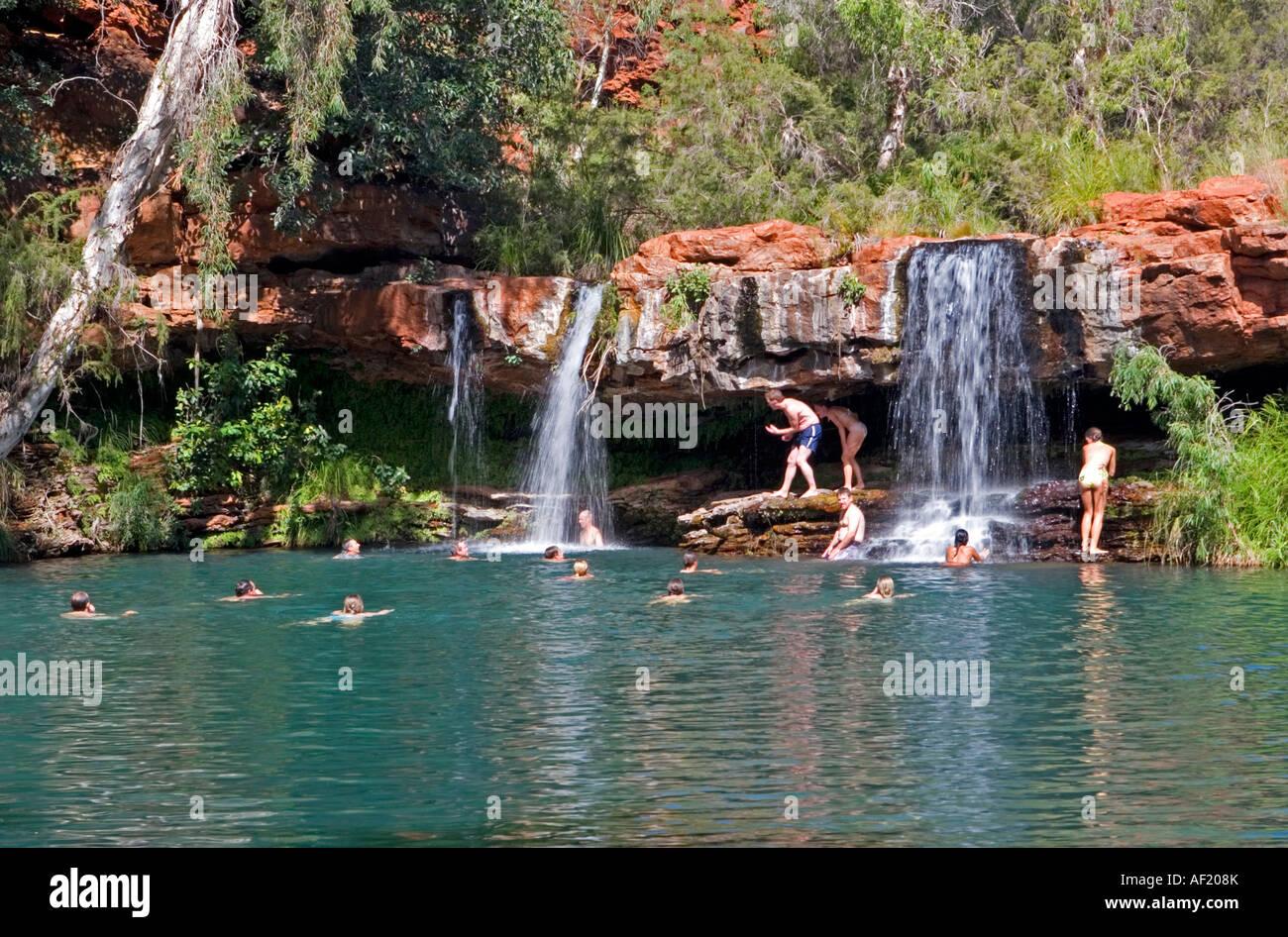Fern Pool In Karijini National Park Western Australia Stock Photo 13804770 Alamy
