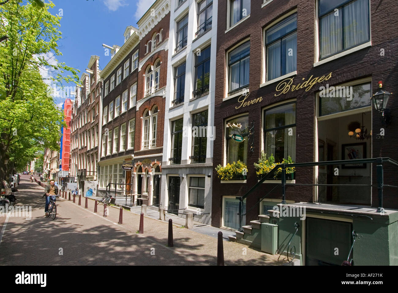 Amsterdam Hotel seven Bridges - Stock Image