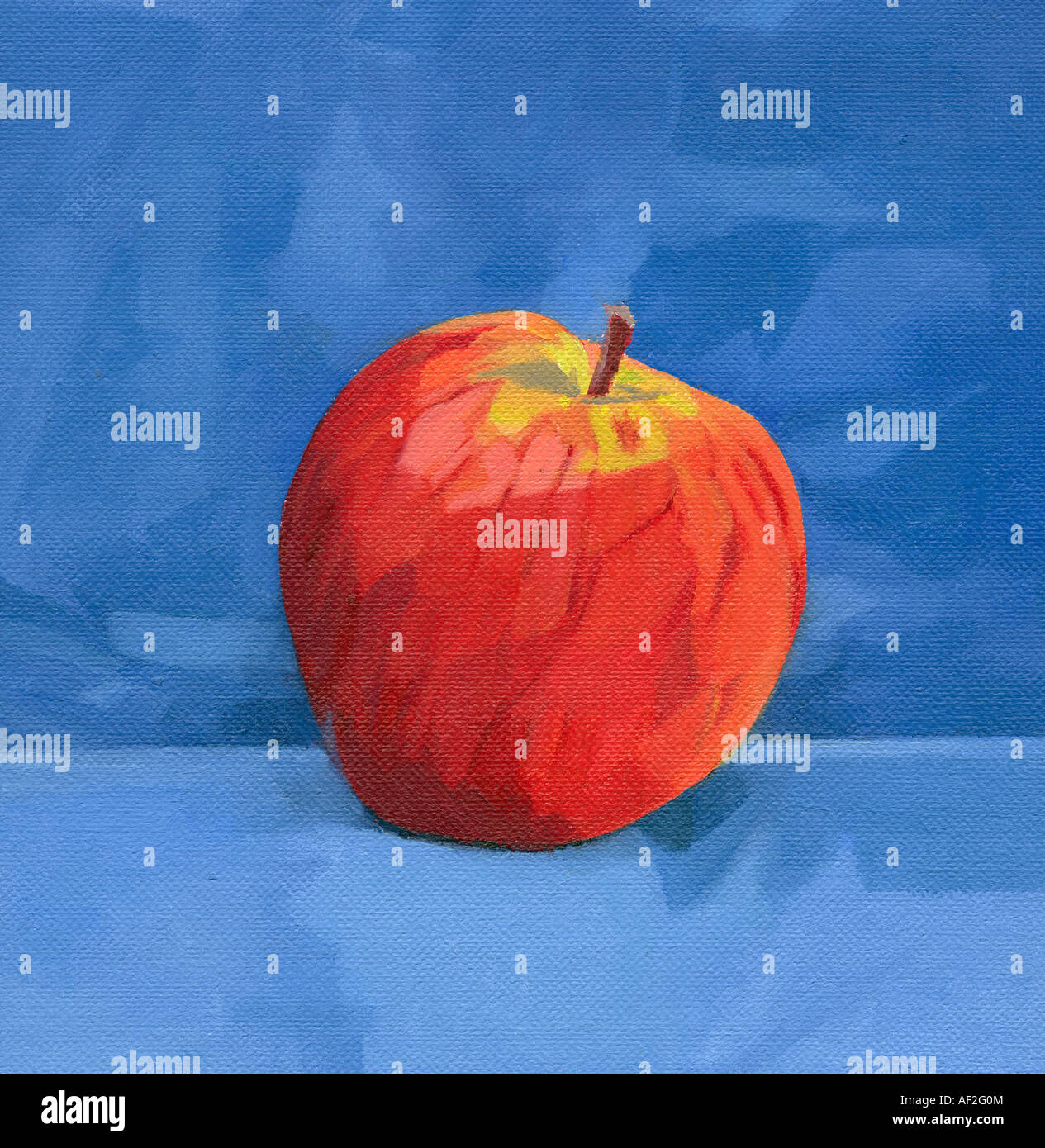 Apple painting - Stock Image