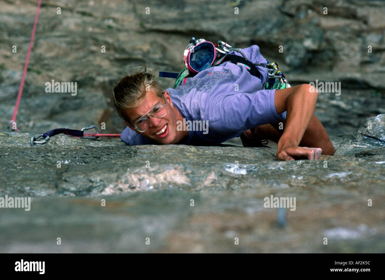 PICTURE CREDIT DOUG BLANE Rock climbing in Chamonix France Stock Photo