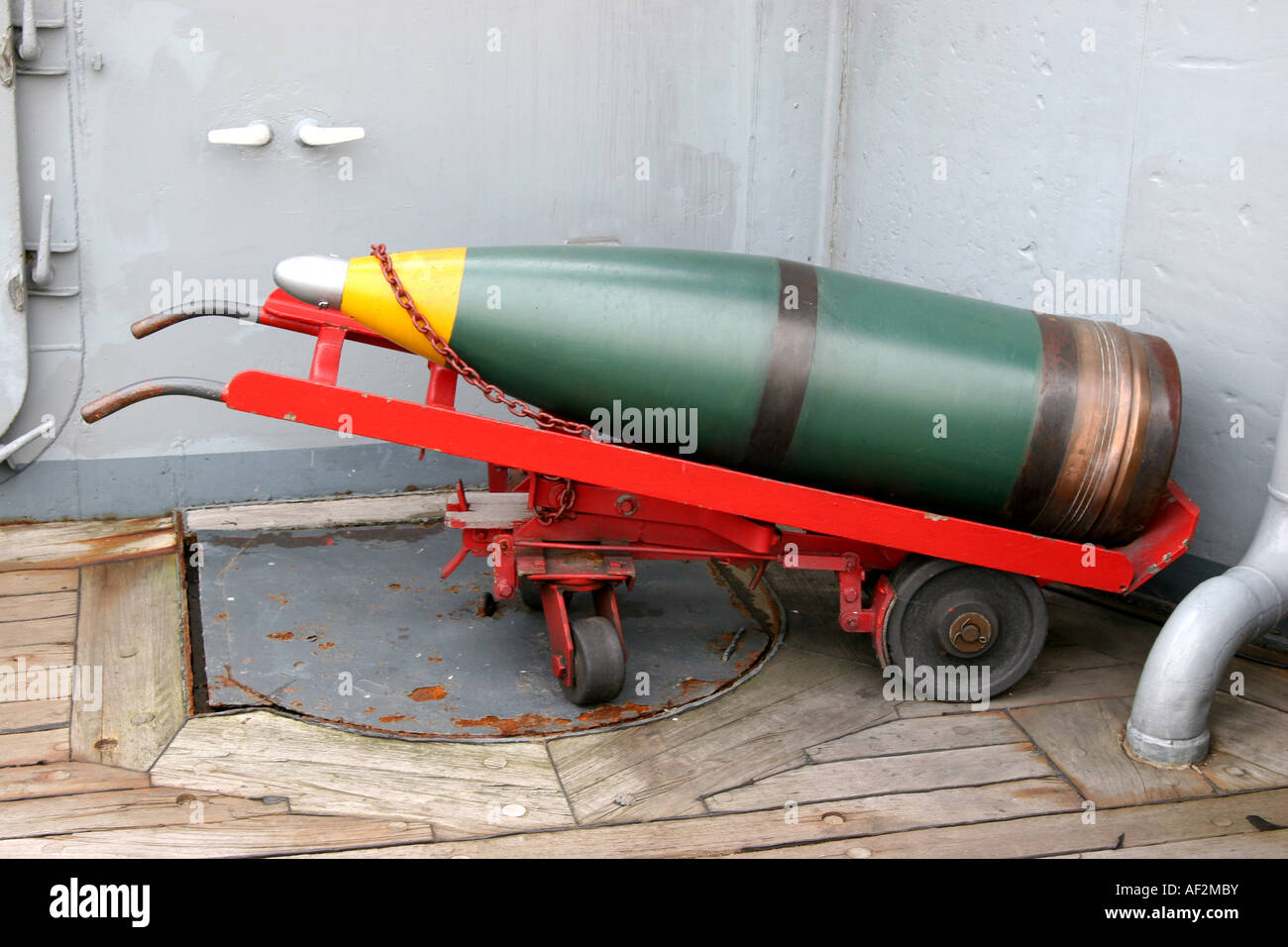 USS New Jersey Museum, bomb shell. - Stock Image