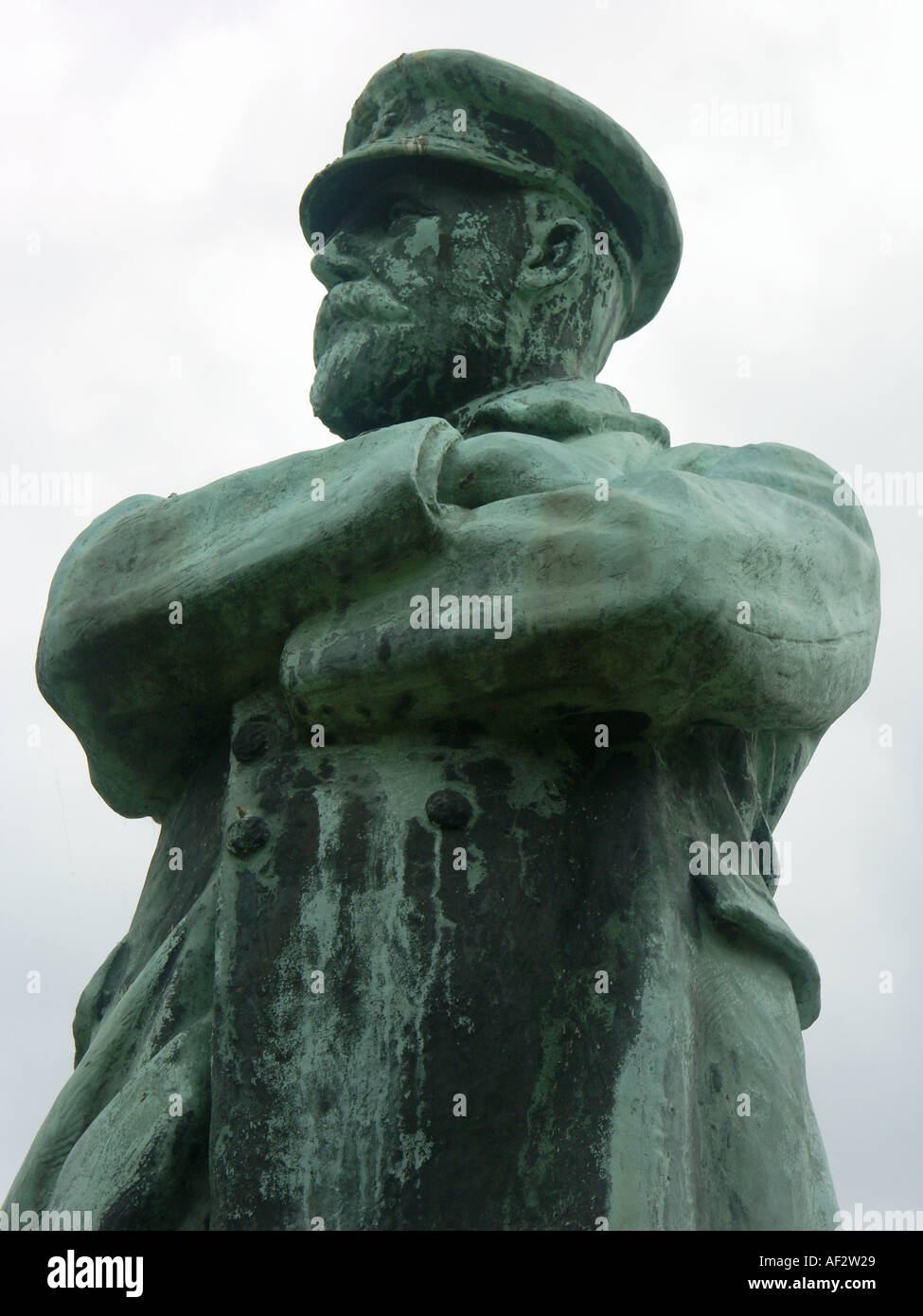 Statue of Captain Smith in Lichfield Captain of the Titanic - Stock Image