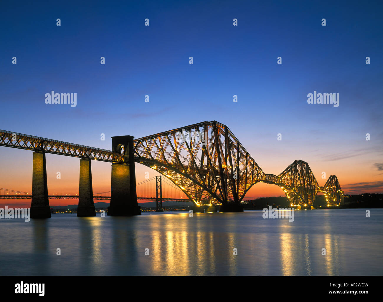Forth Rail Bridge Fife Scotland UK - Stock Image