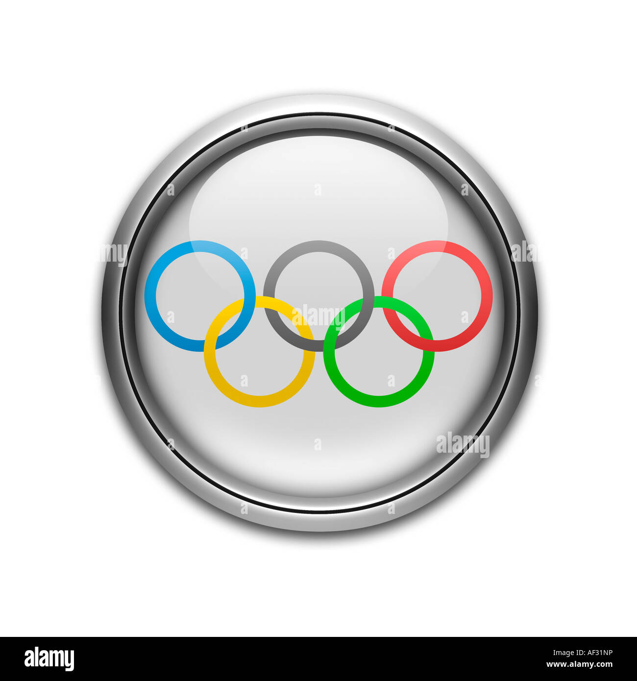 Olympic games Movement flag - Stock Image
