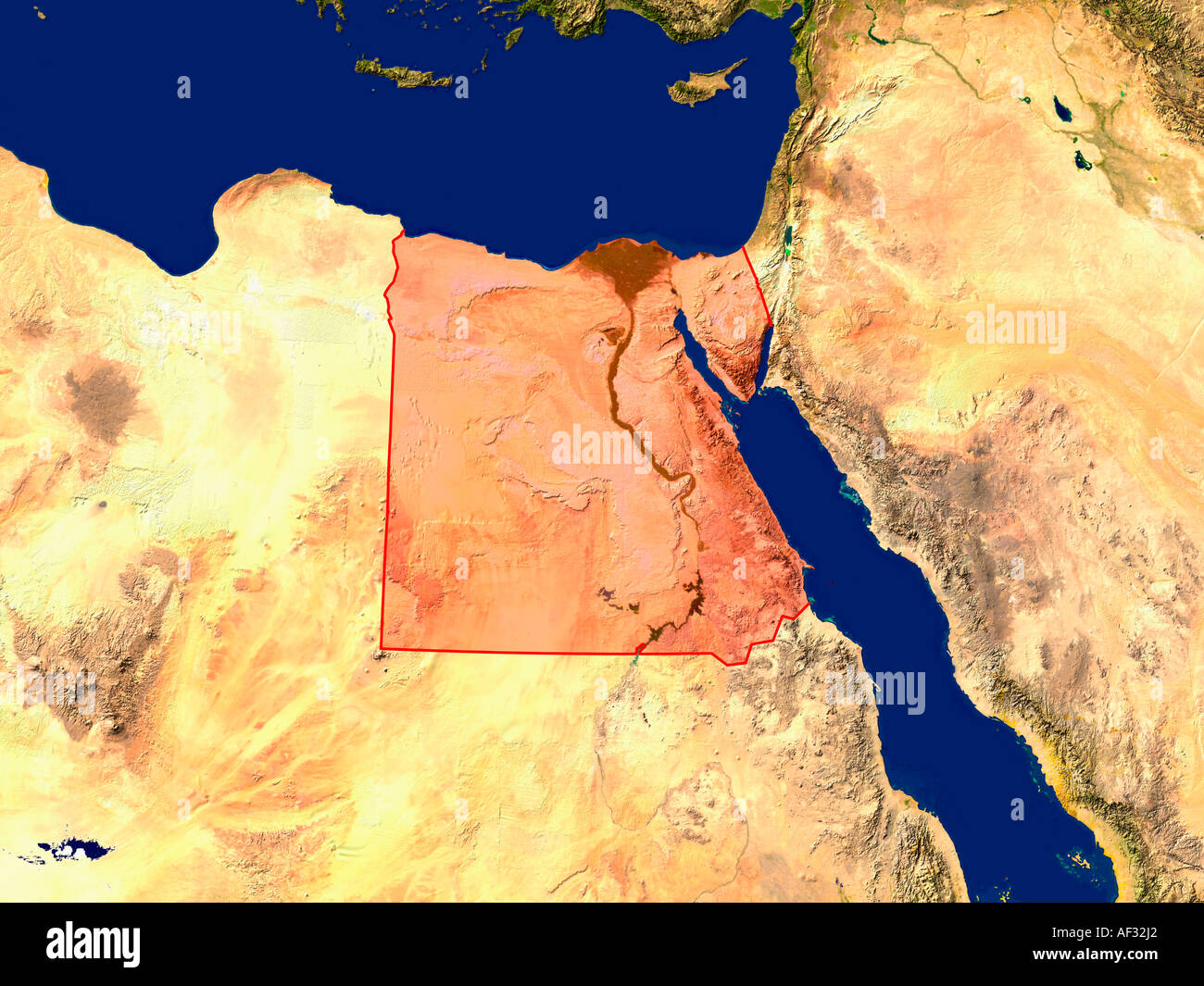 Map egypt stock photos map egypt stock images page 3 alamy satellite image of egypt highlighted red stock image gumiabroncs Gallery