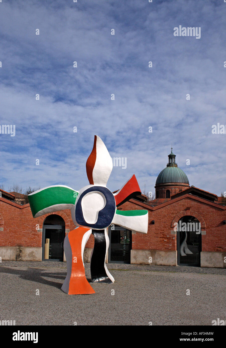 Les Abattoirs Modern Art Museum Courtyard Toulouse France