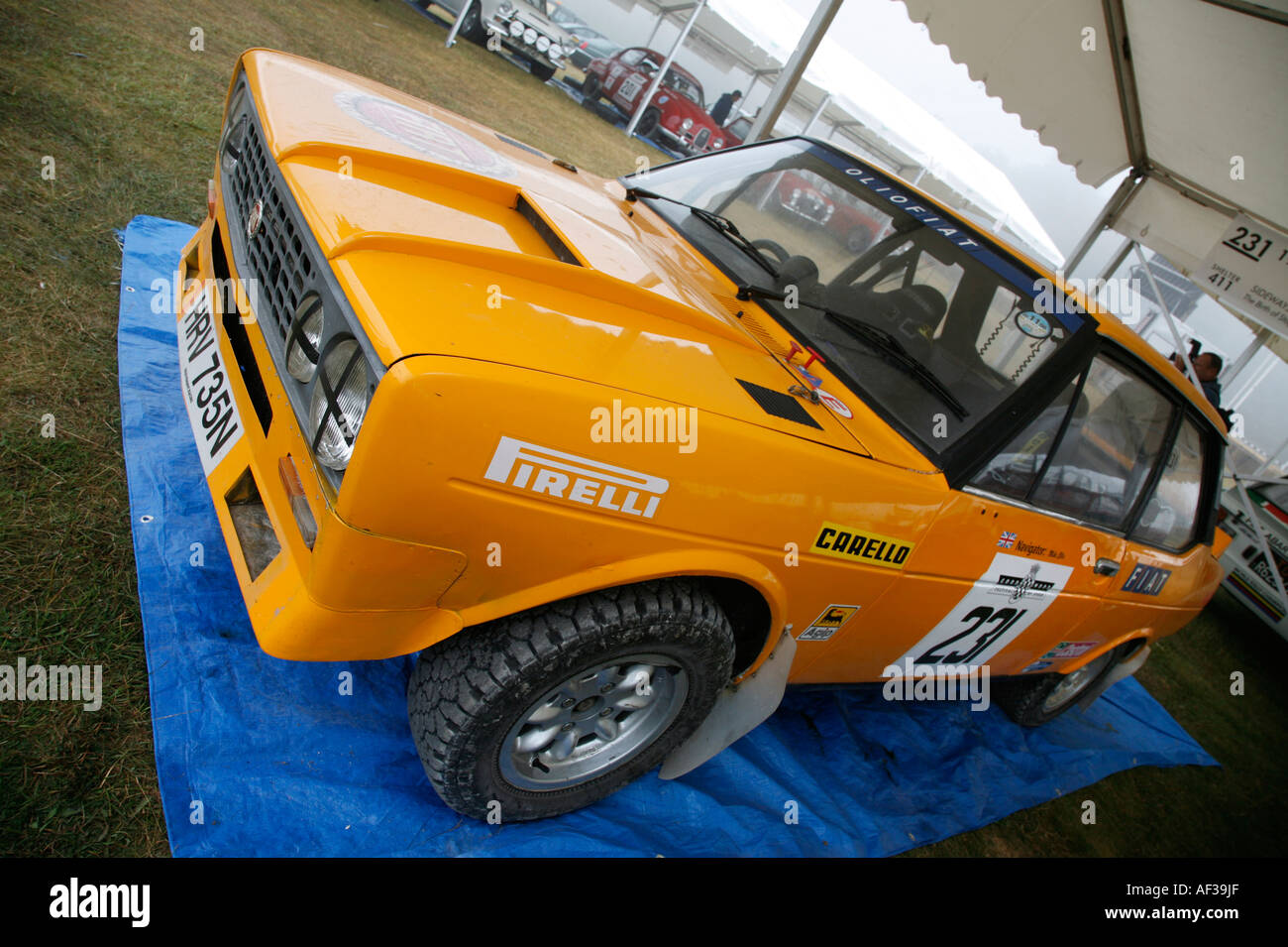 1975 Fiat 231 Abarth in the paddock area at the Goodwood Festival of Speed, Sussex, England. - Stock Image