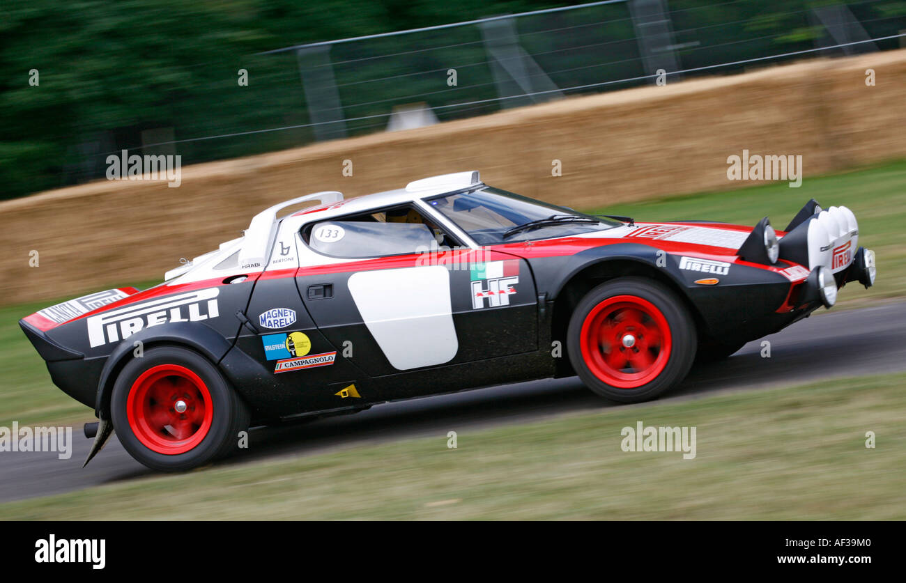 1975 Lancia Stratos on the hillclimb at the Goodwood Festival of Speed, Sussex, England. - Stock Image