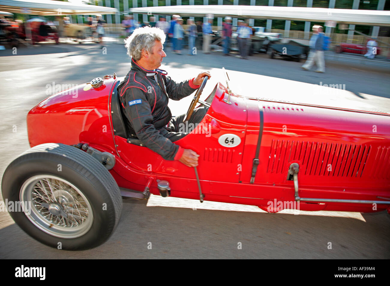 1933 Maserati 8CM leaves the paddock at the Goodwood Festival of Speed, Sussex, England. - Stock Image