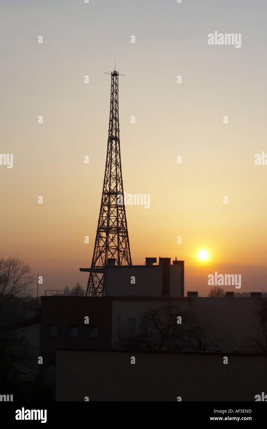 Gliwice Radio Tower Poland Stock Photo