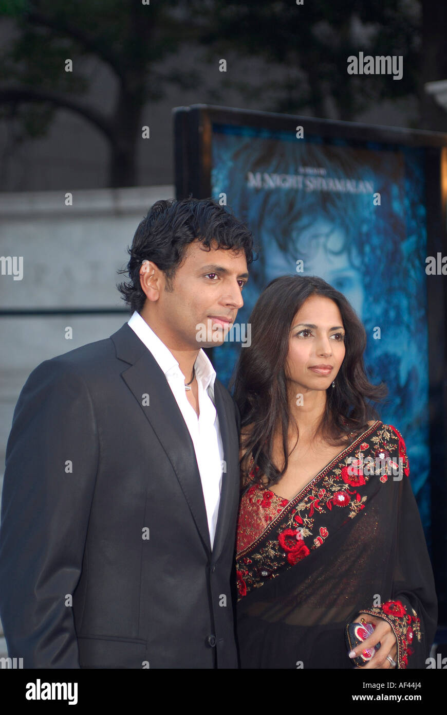 DIRECTOR AND WRITER M NIGHT SHYAMALAN WITH HIS WIFE BHAVNA
