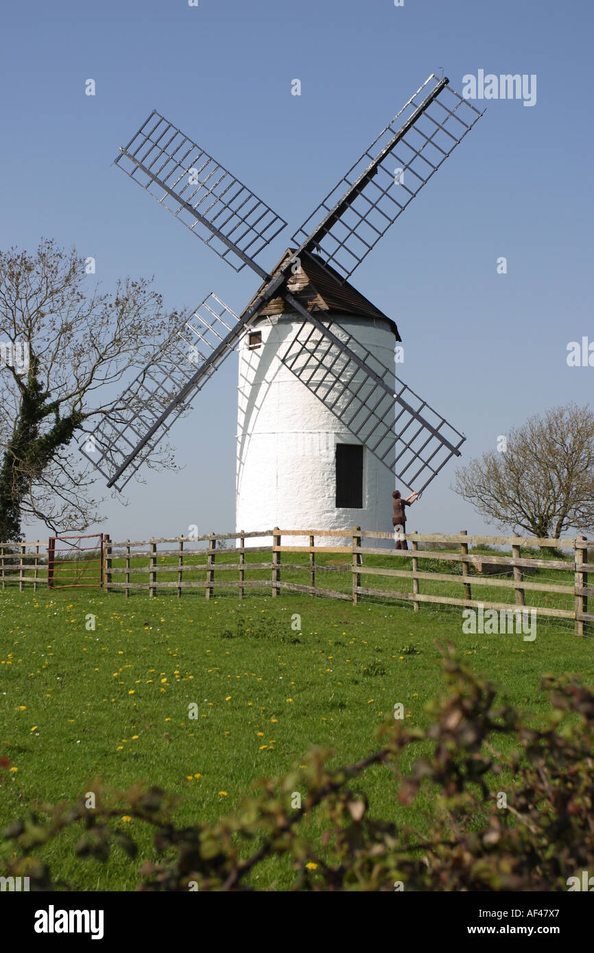 Ashton windmill at Chapel Allerton near Wedmore Somerset England - Stock Image