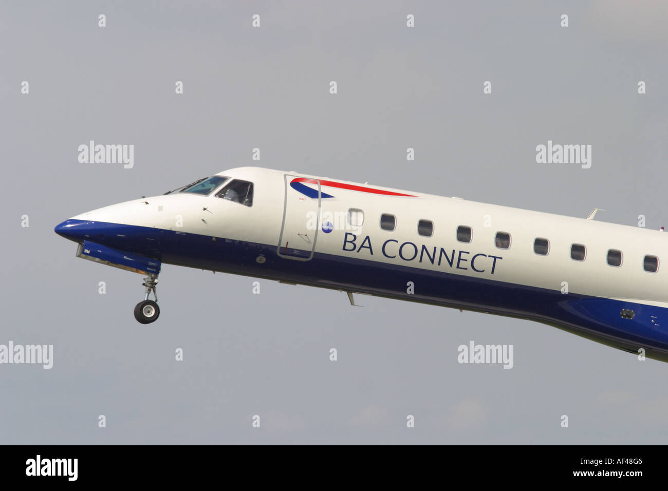 BA Connect British Airways Connect operates regional flights from UK local airports EMB 145 taking off from Bristol Stock Photo
