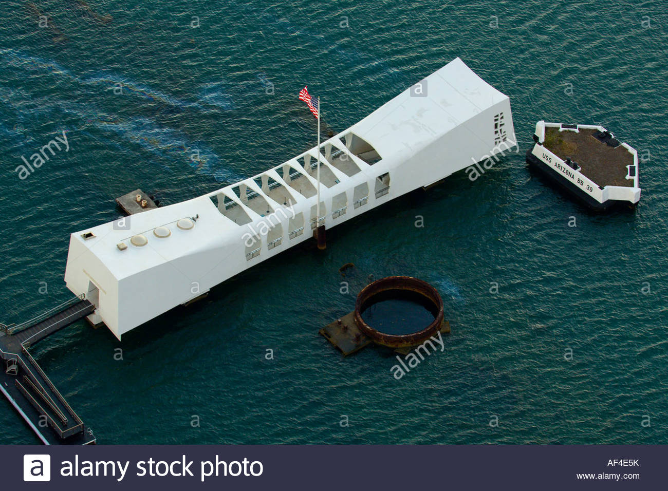Aerial View Of The Uss Arizona Memorial Pearl Harbor