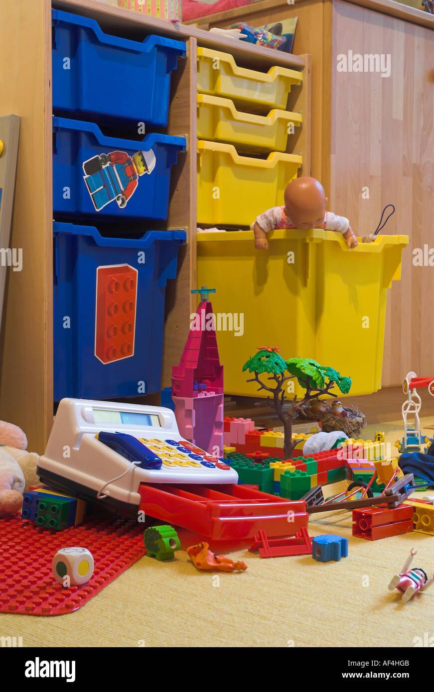 Messy playroom - Stock Image