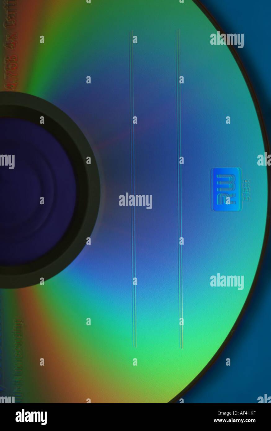 DVD R RW medium - Stock Image