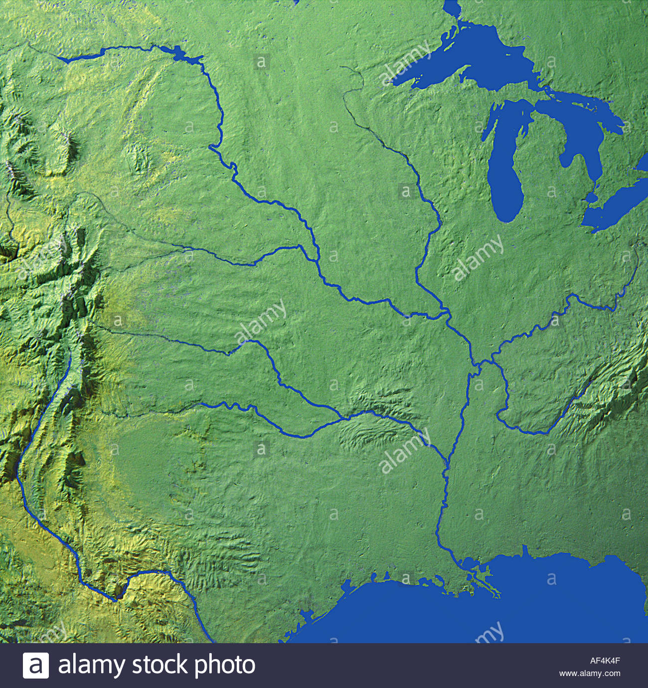 map maps globe globes North America USA South East Stock ...
