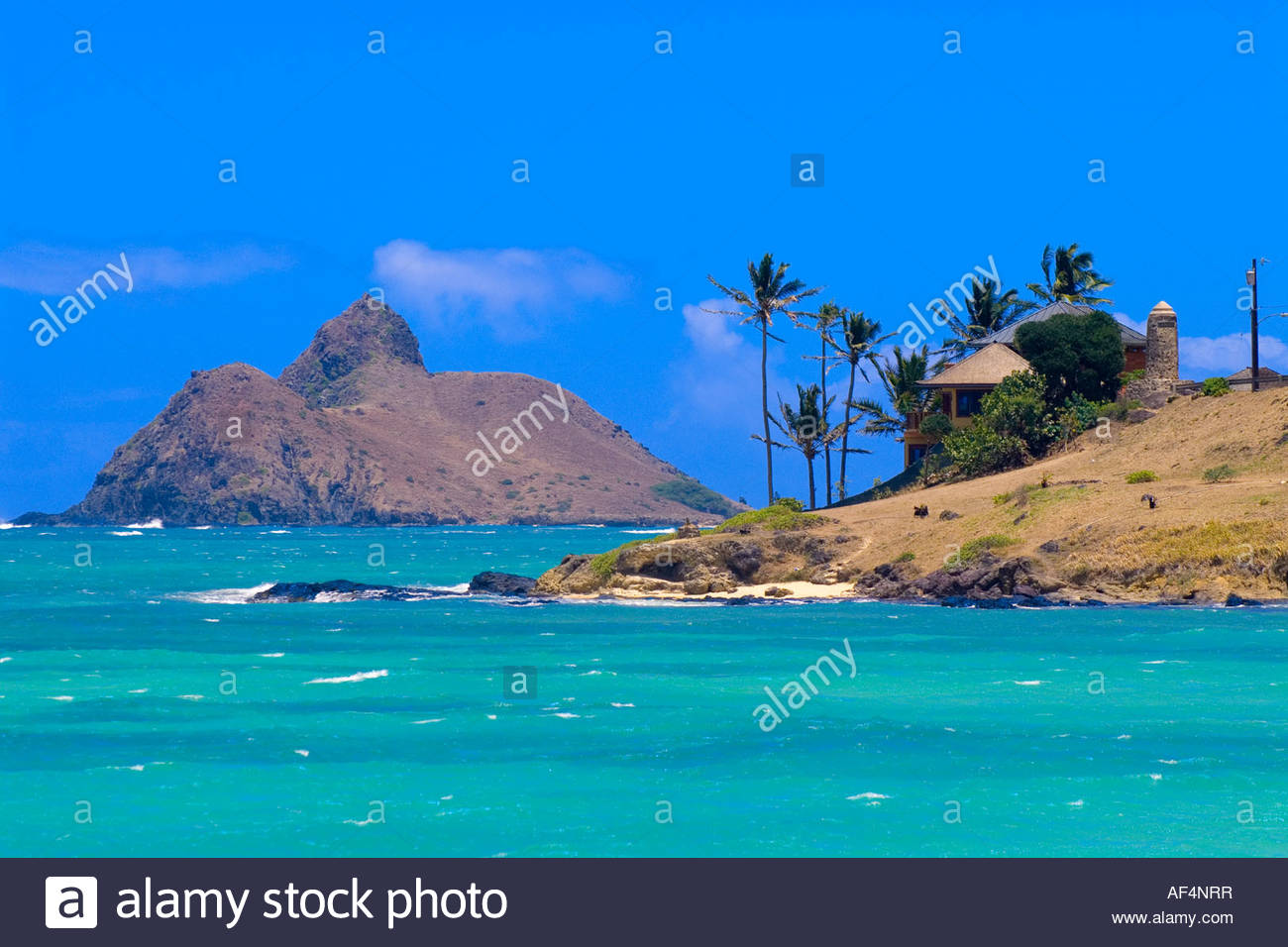 Kailua Beach Park Kailua Bay Kailua Oahu Hawaii Usa Stock