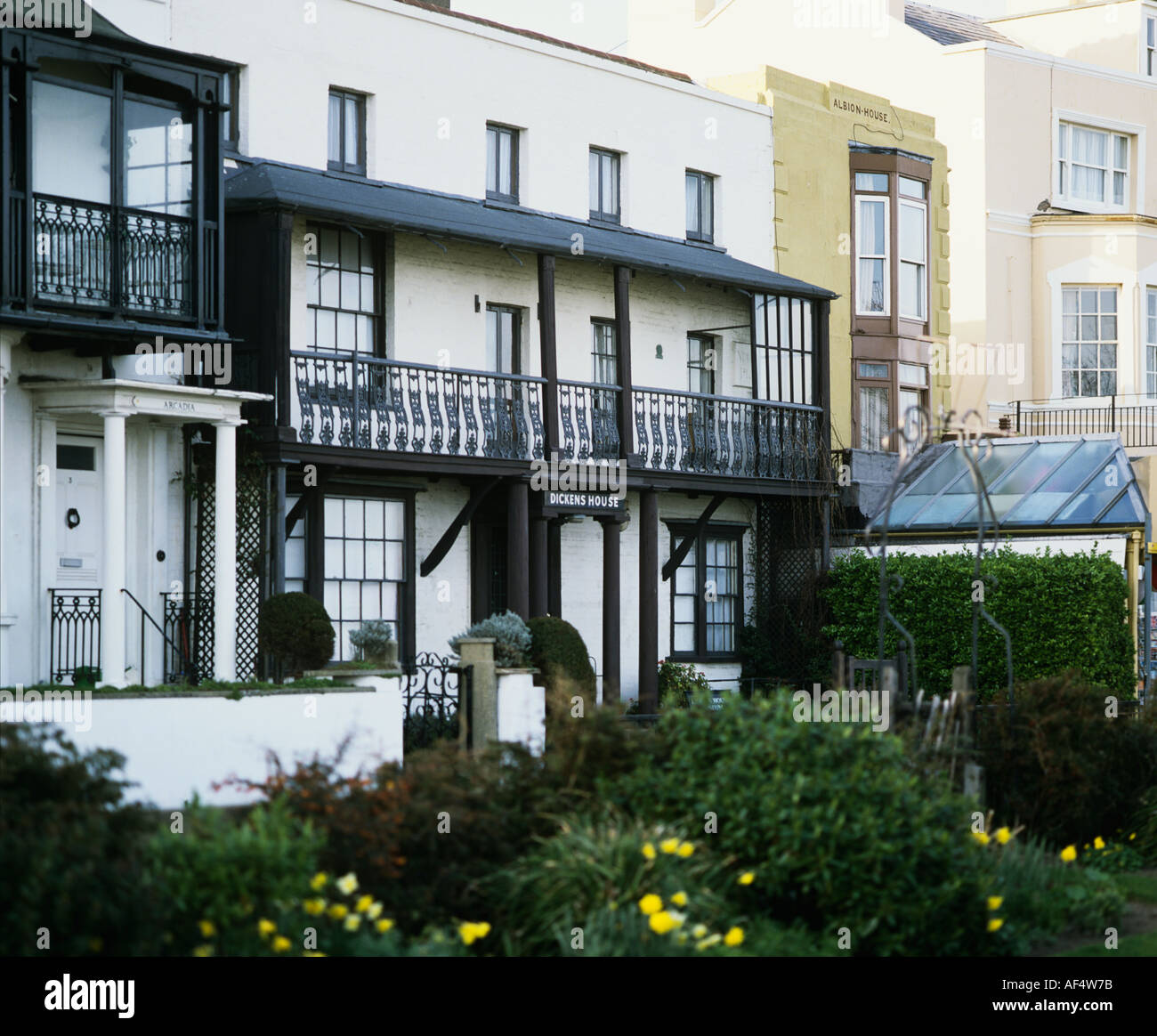 Dickens House above the Harbour at Broadstairs Betsy Trotwood s house in David Copperfield - Stock Image