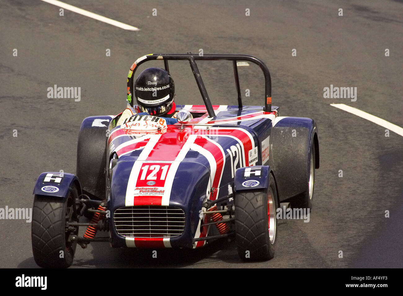 Leitch Super Sprint Classic Street Racing Dunedin South Island New Zealand - Stock Image
