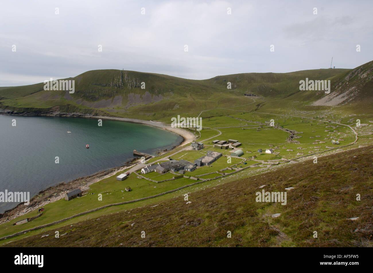 Village Bay. Saint Kilda Island Western Islands Outer Herbrides Scotland - Stock Image