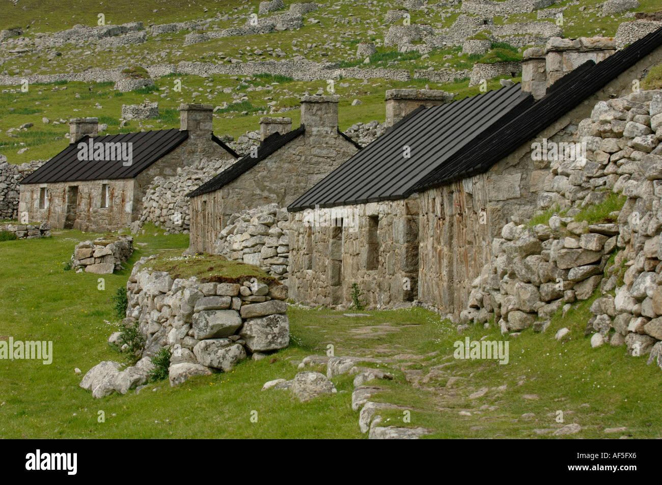 Saint Kilda Island Western Islands Outer Herbrides Scotland - Stock Image