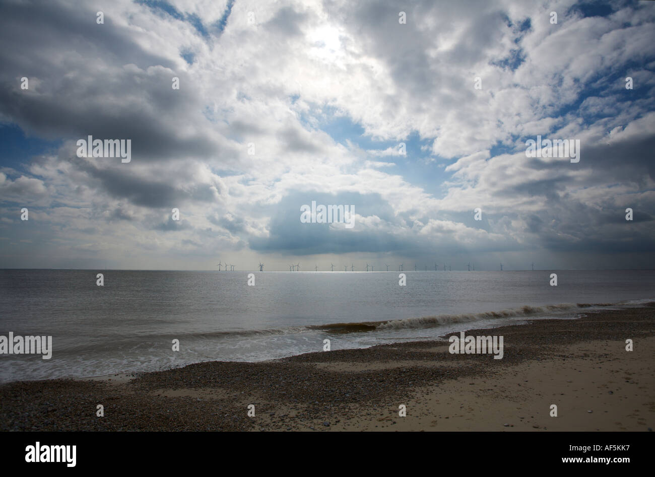 Caister Beach Norfolk Stock Photo