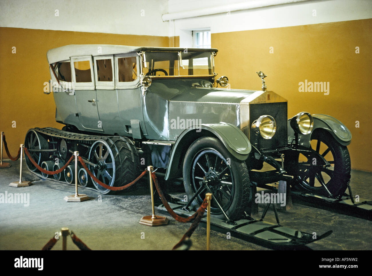 famous old rolls royce car fitted with caterpillar tracks. Black Bedroom Furniture Sets. Home Design Ideas