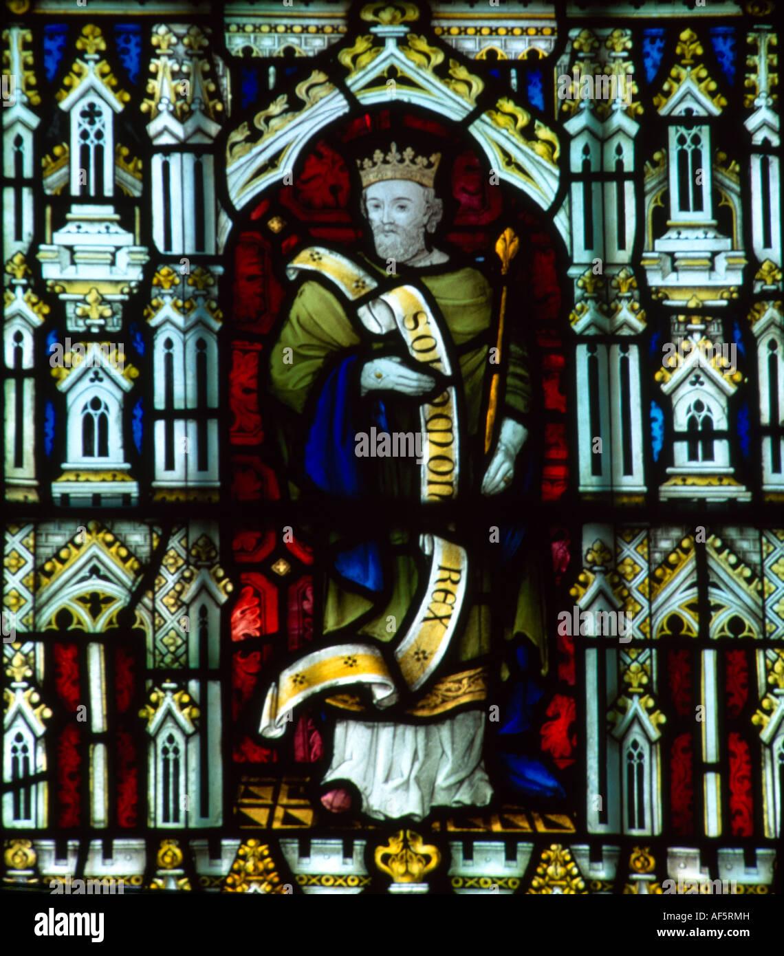 King Solomon Sacred Hearts Church  Wimbledon Jesuit (catholic) Stained Glass Stock Photo
