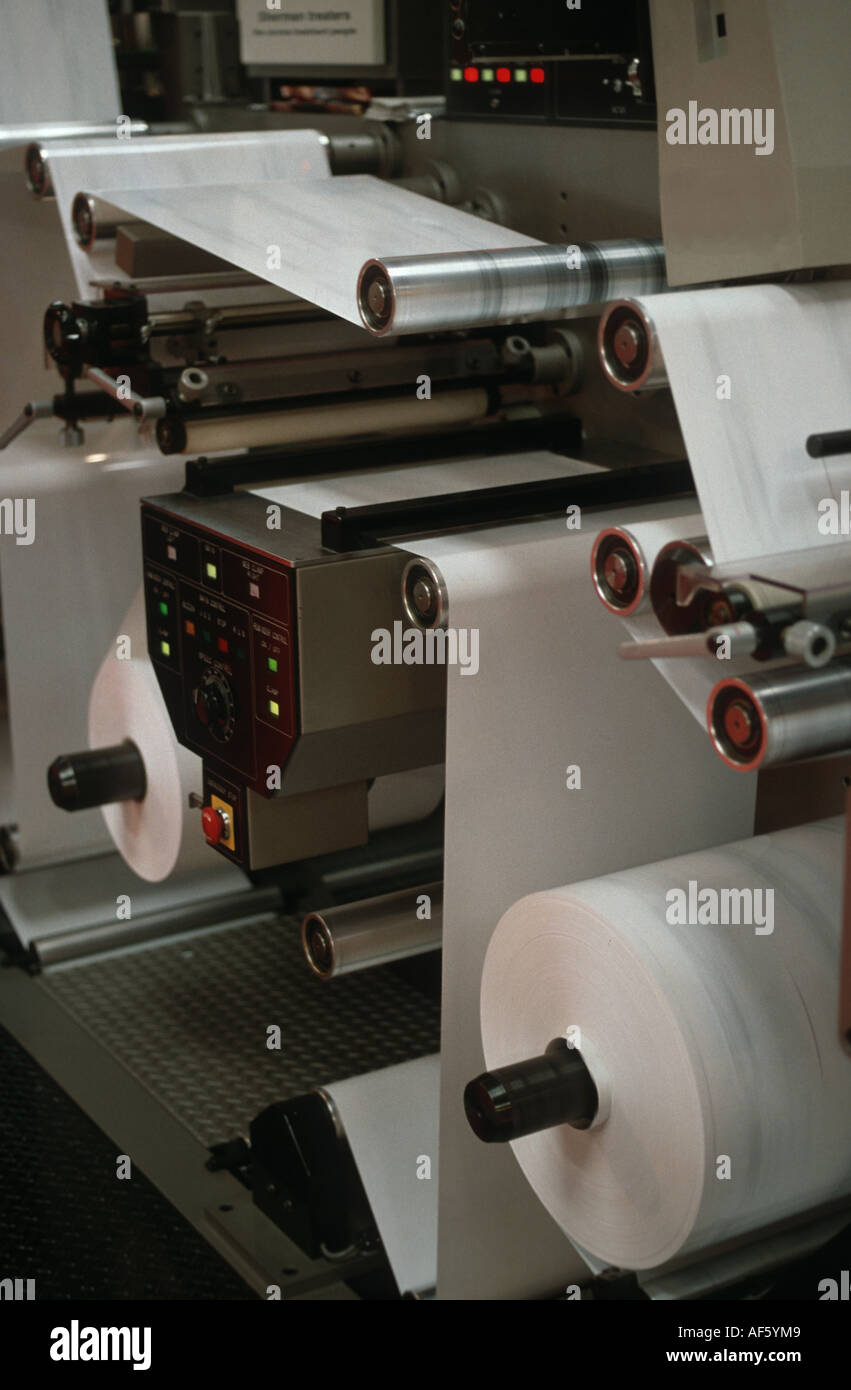 print machine paper industry - Stock Image