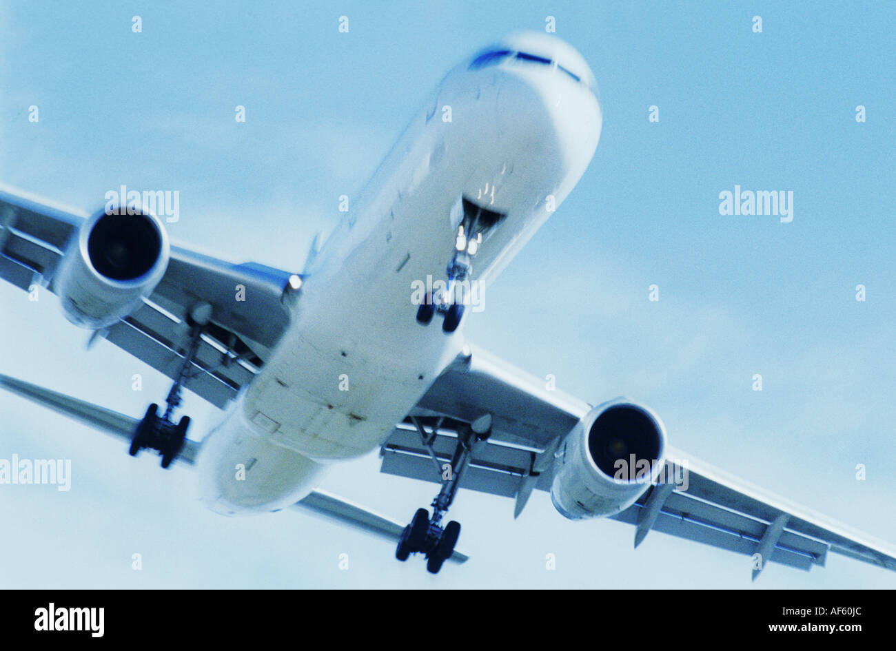 plane aeroplane airplane detail close fly - Stock Image