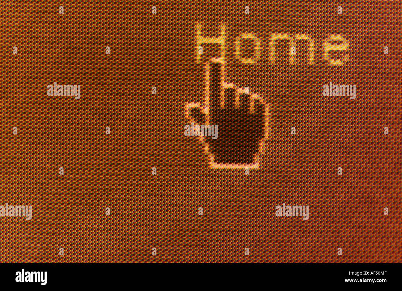home sweet home page computer symbol hand link - Stock Image