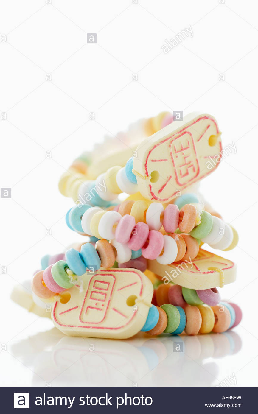 Candy watches - Stock Image