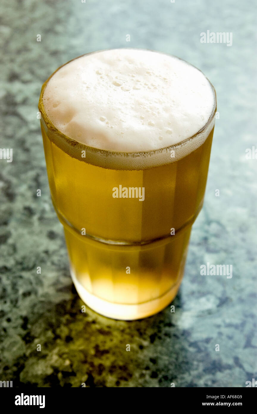 LAGER BEER ON BAR . CORAL BEER - Stock Image