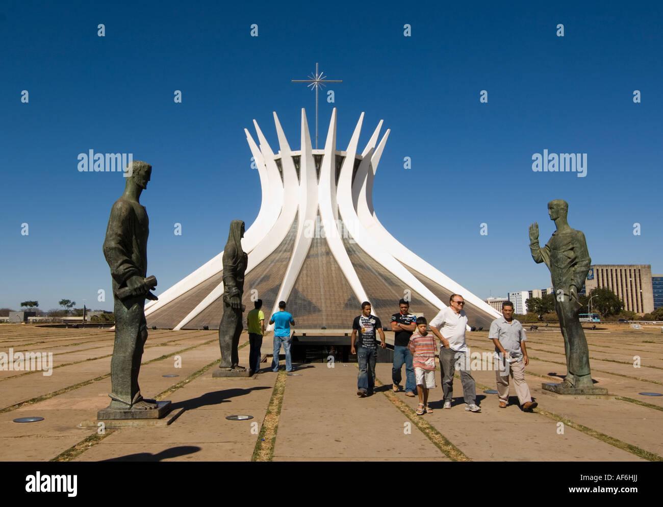 Catedral Metropolitana Brasilia Brazil August 2007 - Stock Image