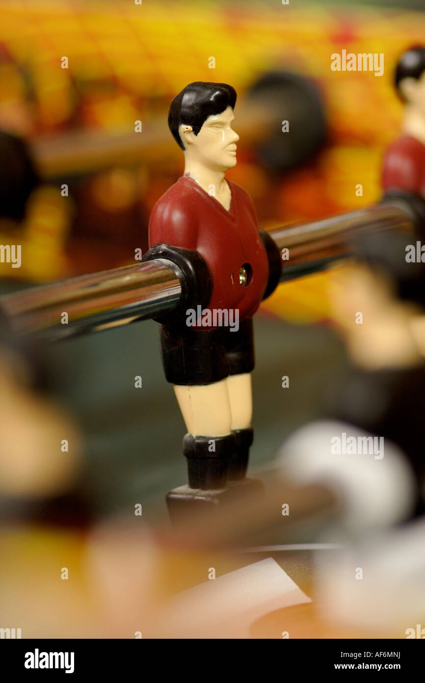 Football table figures close up - Stock Image