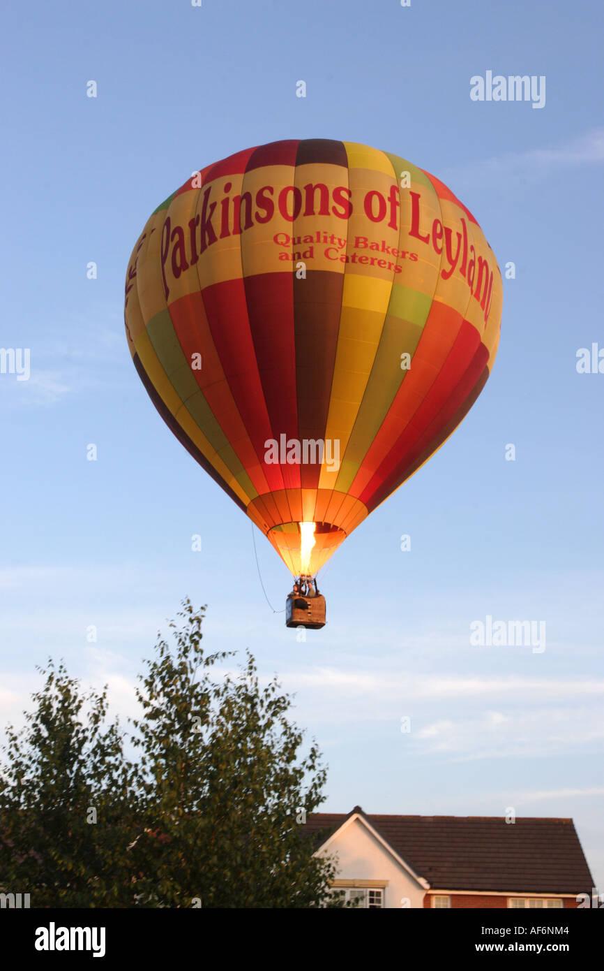Hot air balloon 2469, lancashire,UK, Europe - Stock Image
