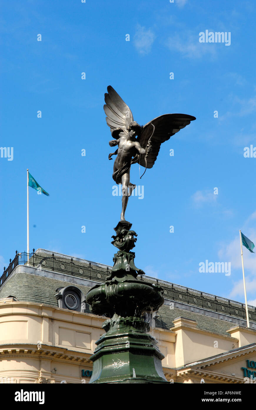 Statue of Eros Picadilly Circus - Stock Image