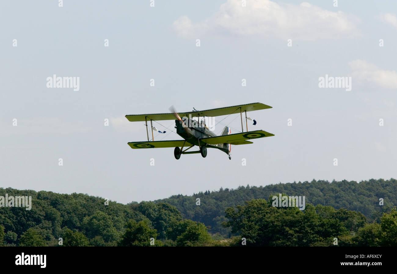 Replica World War I SE5A biplane at festival of history in UK 2007 - Stock Image