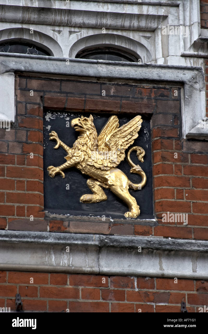 Griffin on Hall of Grey s Inn Inns of Court with barrister s chambers London WC1 England Law and legal workplace - Stock Image