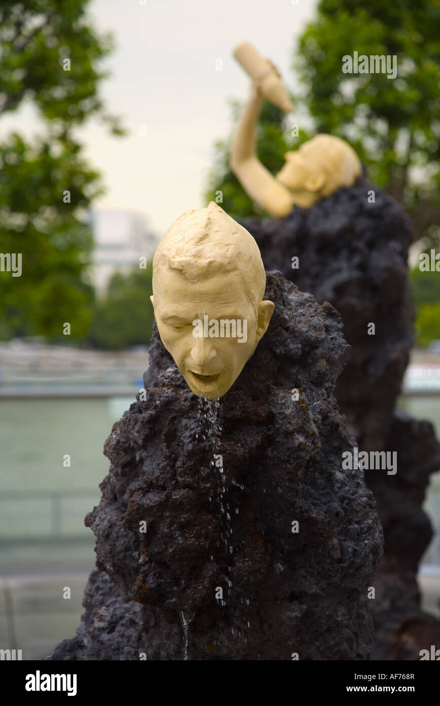 One of the figures from Klaus Weber's 'The Big Giving' sculpture - Stock Image