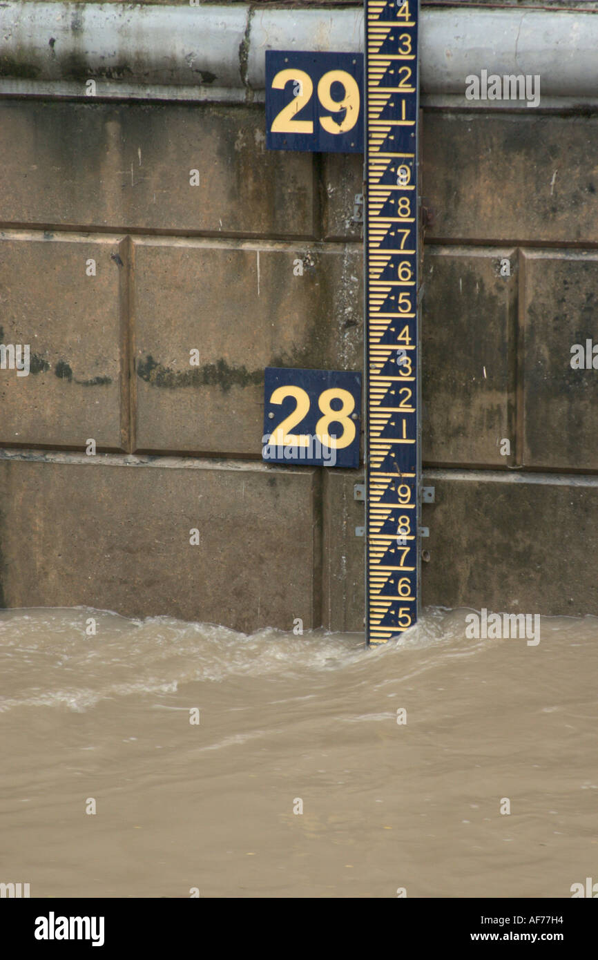 River Water Level Indicator For Flood Warning System In Malaysia Stock Photo Alamy