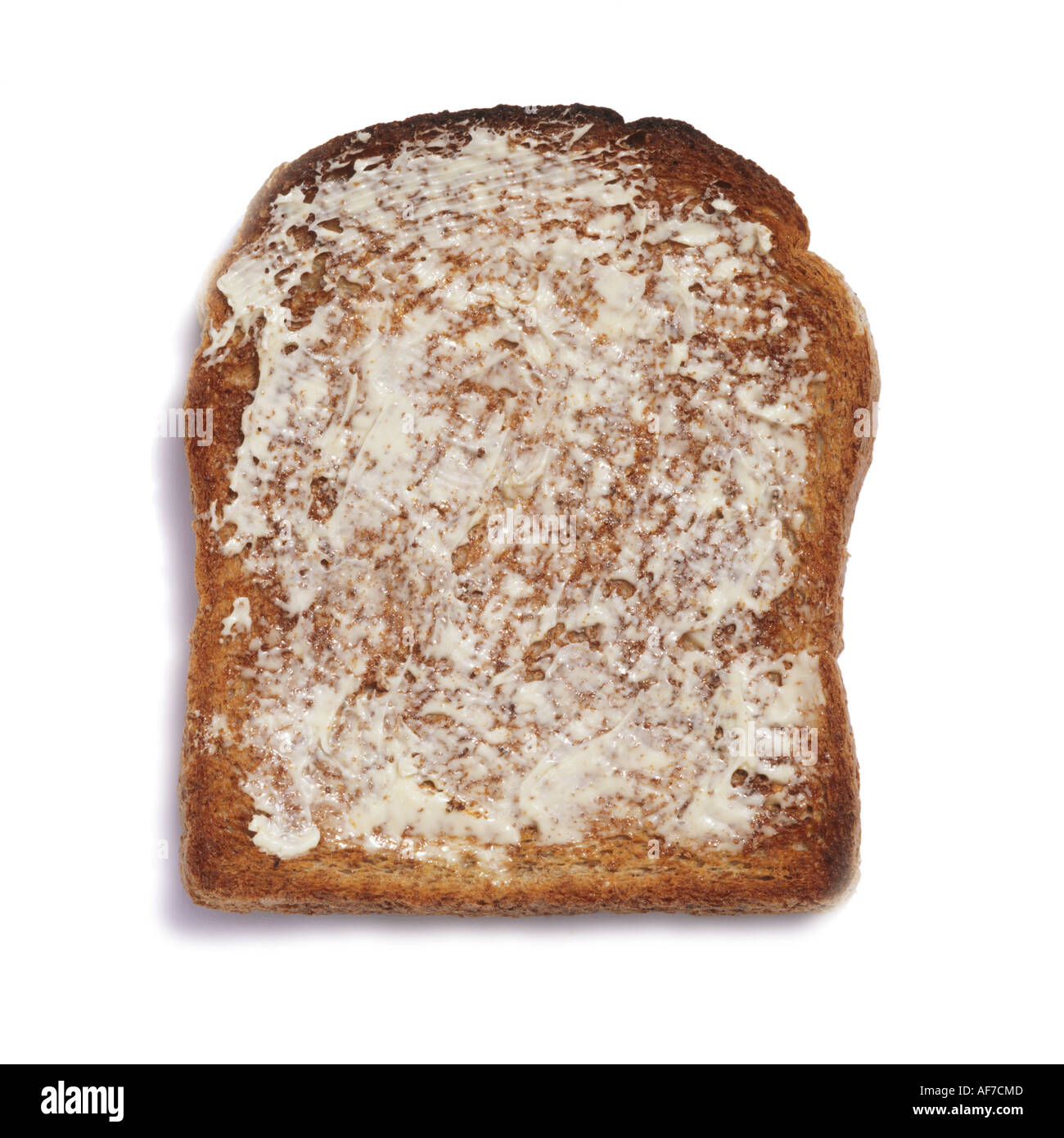 a buttered slice of toast stock photo 7917644 alamy