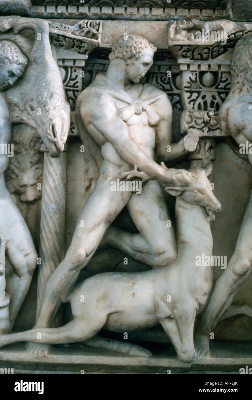 Konya Turkey Sarcophagus Hercule Aphrodisias - Stock Image