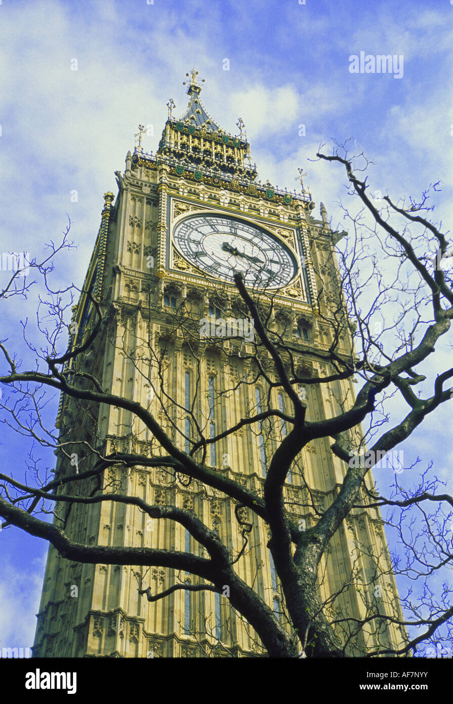 Big Ben on a spring afternoon - Stock Image