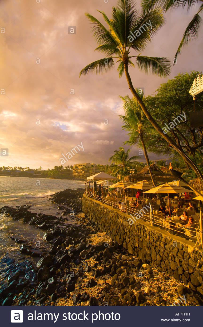 Beach Kailua Kona Island Hawaii Stock Photos & Beach Kailua Kona ...