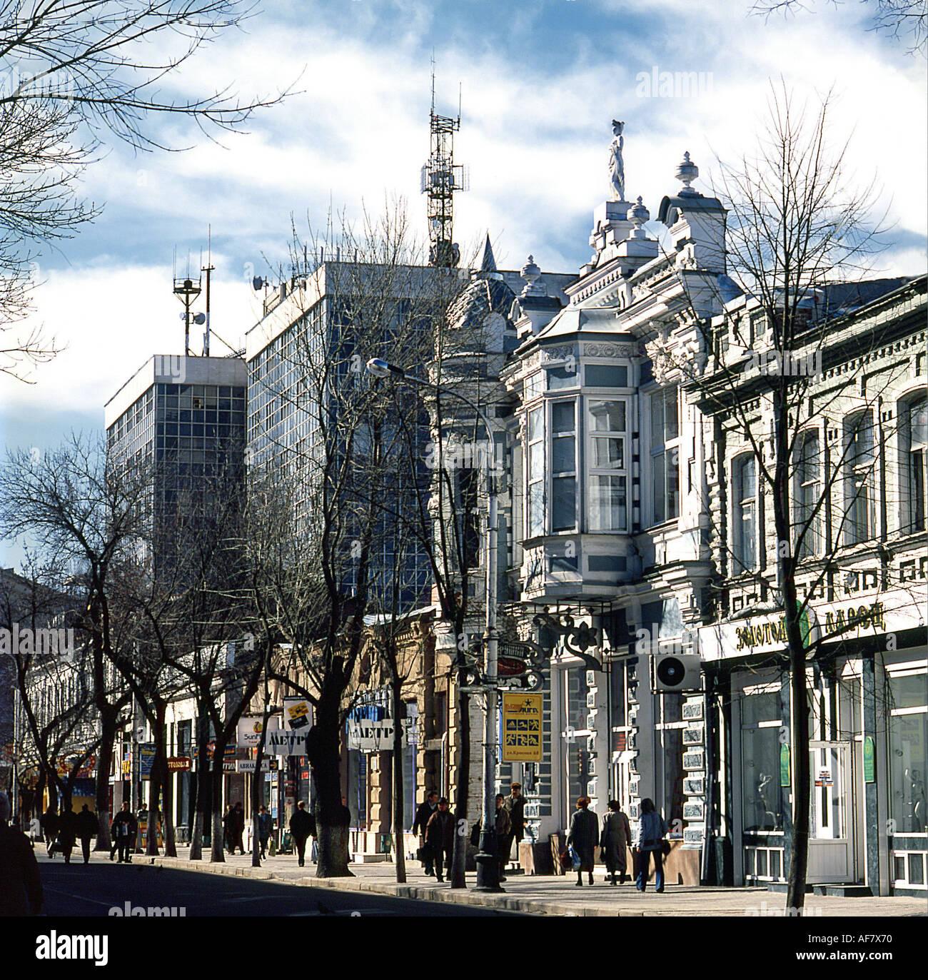 Geography Travel Russia Krasnodar Street Scenes Krasnaya Street Stock Photo Alamy