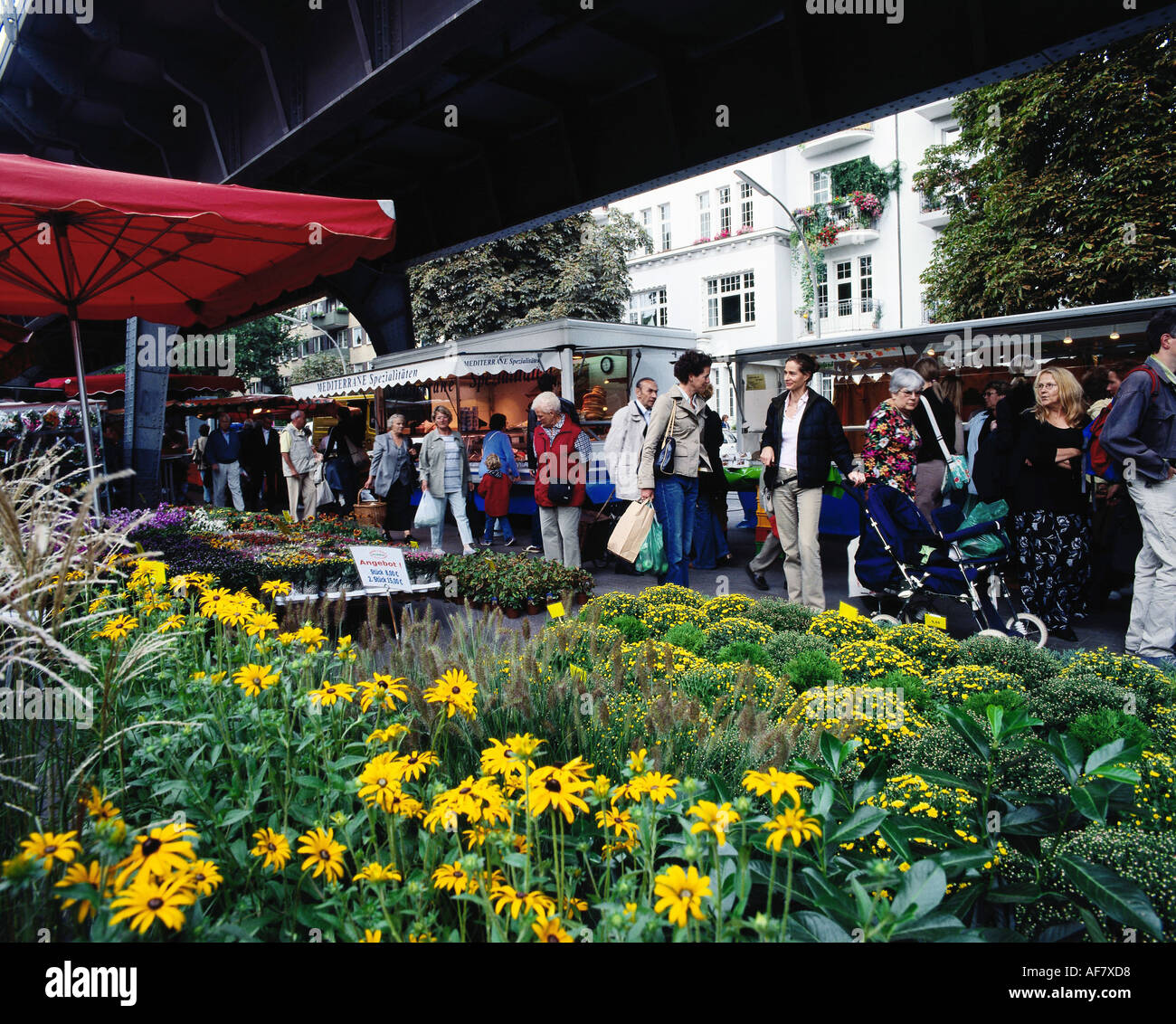 geography / travel, Germany, Hamburg, green market at Isestrasse, Additional-Rights-Clearance-Info-Not-Available Stock Photo